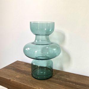 Vaas blauw glas