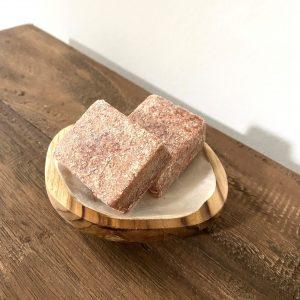 amberblokje schaaltje houtwit